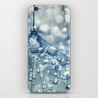 mandie manzano iPhone & iPod Skins featuring Sparkling Dandy in Blue by Sharon Johnstone