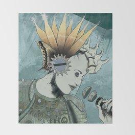 Queenflowers Throw Blanket