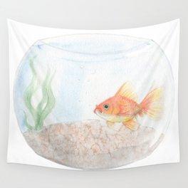 Grumpy Goldfish Wall Tapestry