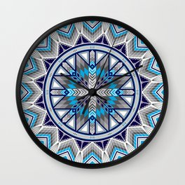 Sacred Places Blue Wall Clock