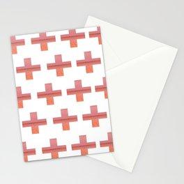 Paint Peeling Like Mars Cross Gradient Stationery Cards