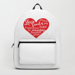 Love Family Happiness Backpack