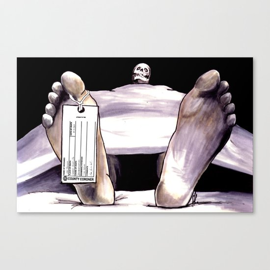 Toe Tag Canvas Print