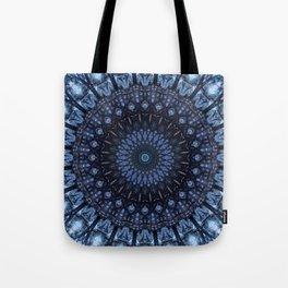 Dark and light blue mandala Tote Bag