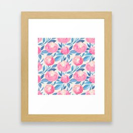 Watercolor pattern 1 Framed Art Print