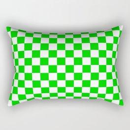 Green checkerboard background Rectangular Pillow