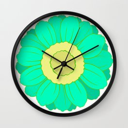 Unadorned Flower  Wall Clock