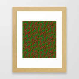 Ladybug in green Framed Art Print