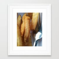 fries Framed Art Prints featuring Fries by Wild World Of Food