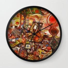 African-American Classical Masterpiece 'Devils Descending' by Alexander Skunder Boghossian Wall Clock