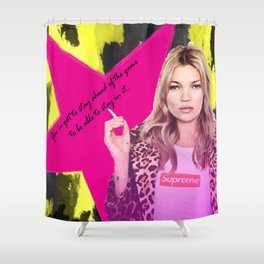 Fashion abstract poster Shower Curtain