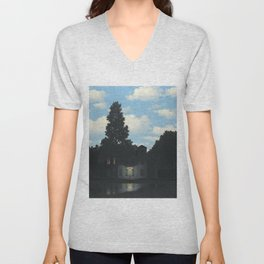 The Empire of Light - Rene Magritte Unisex V-Neck