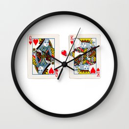 The King knows what the heart wants. Wall Clock