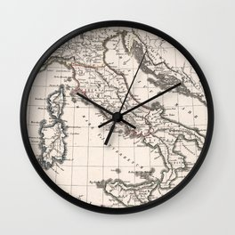 Vintage Map of Italy (1825) Wall Clock