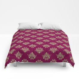 Golden Damask Comforters