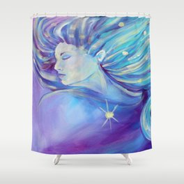 I AM the Moon and the Stars Shower Curtain