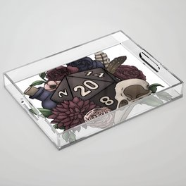 Necromancer D20 Tabletop RPG Gaming Dice Acrylic Tray
