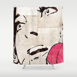 Girl On The Phone Shower Curtain