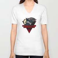 monster hunter V-neck T-shirts featuring Monster Hunter All Stars - Howling Devils by Bleached ink