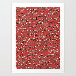 Skellie Pattern Art Print