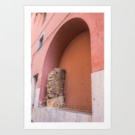 Embedded Roman Wall, Right side Art Print