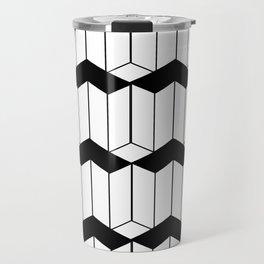 L shaped 3d block art Travel Mug
