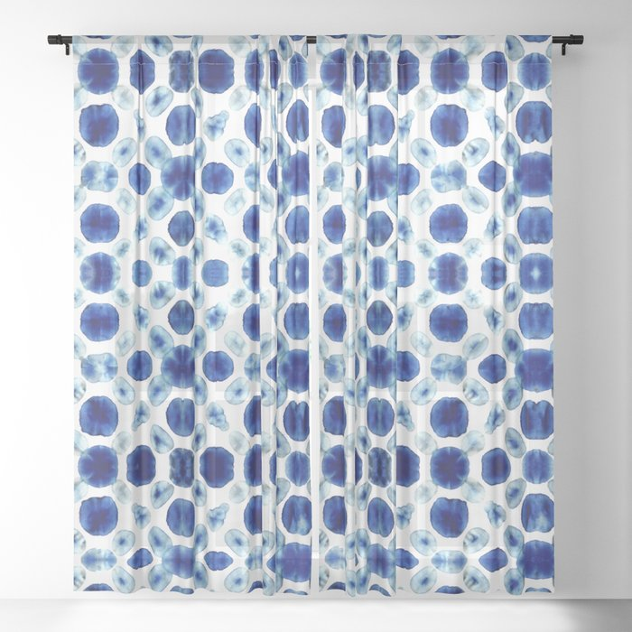 Shibori Circles Sheer Curtain