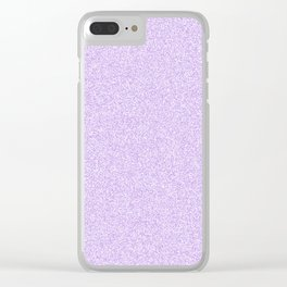 Melange - White and Light Violet Clear iPhone Case