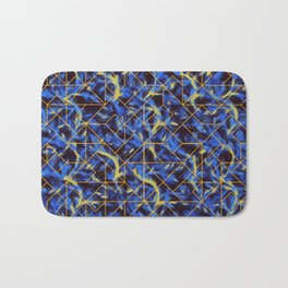 The Blue and Yellow Bath Mat