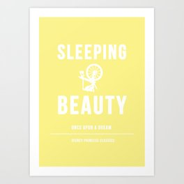 Disney Princesses: Sleeping Beauty Minimalist Art Print