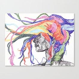 Ink Windblown Canvas Print