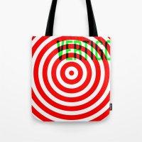 vertigo Tote Bags featuring VERTIGO by Brian Walker