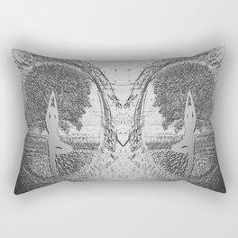 Yoga Tree in Chrome Rectangular Pillow