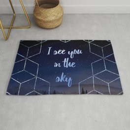 I See You In The Sky Typography Design Rug