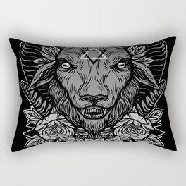 Dark Goat Rectangular Pillow