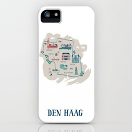 Illustrated city map The Hague iPhone Case