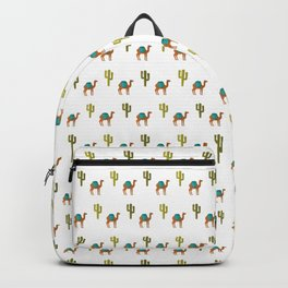 Camels and cactuses Backpack