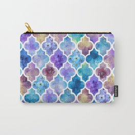 Colorful Watercolor Moroccan Pattern - II Carry-All Pouch