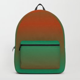 EARTH & NATURE Rust Green ombre pattern  Backpack