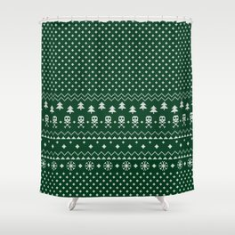 Christmas Sweater Shower Curtain