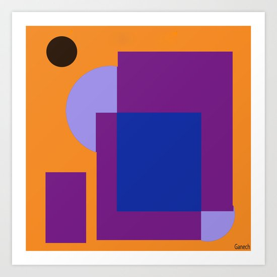 Formes 10 Art Print