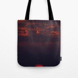 Dusk on the Atlantic Ocean Tote Bag