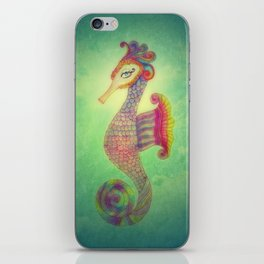 Seahorse Lady iPhone Skin