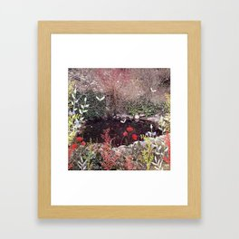A Pond full of Gold Framed Art Print