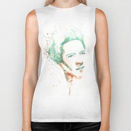Simone de Beauvoir watercolor painting Biker Tank