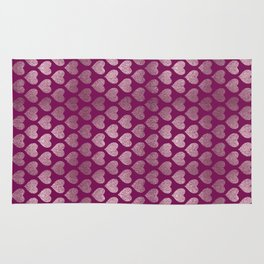 Hearts pattern Rug