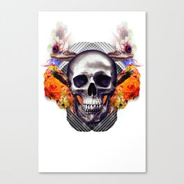 Laughing Skull Creates Dimwitted Robots In the Middle Ages Canvas Print