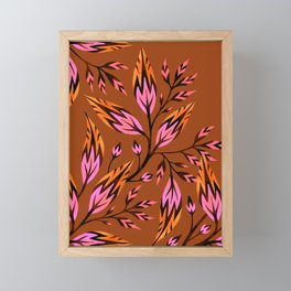 Frondescence - Burnt Orange Framed Mini Art Print