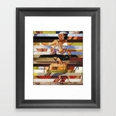 Glitch Pin-Up Redux: Heather Framed Art Print