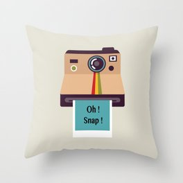 Oh ! Snap !  Throw Pillow